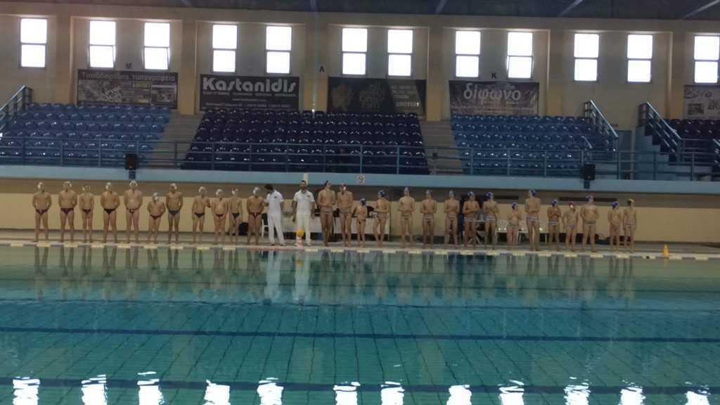 πραγματοποιήθηκαν οι  αγώνες του ομίλου πτολεμαΐδας για την α' φάση του πανελλήνιου πρωταθλήματος υδατοσφαίρισης παίδων 12