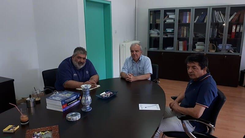 Συνάντηση του Παναγιώτη Πλακεντά με τους Κοσμήτορες Εργοθεραπείας και Μαιευτικής με θέμα την λειτουργία των τμημάτων στην Πτολεμαΐδα 1