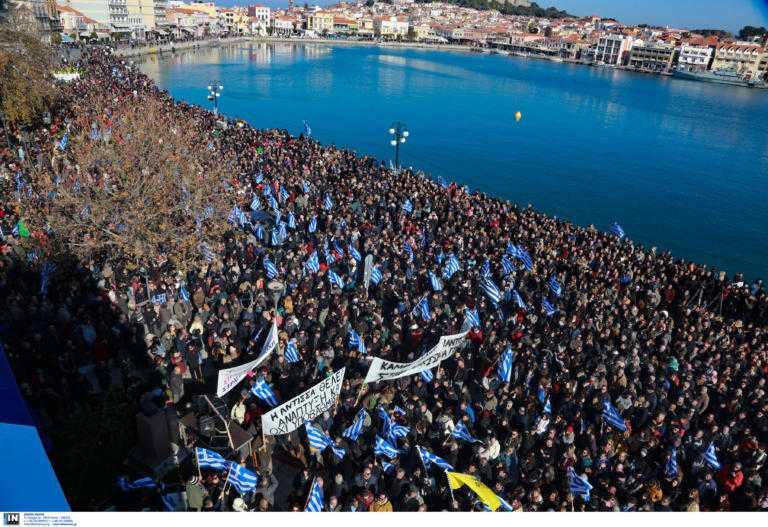 Προσφυγικό: «Βούλιαξαν» Χίος, Σάμος, Λέσβος από χιλιάδες κόσμου που διαμαρτύρονται! video 4