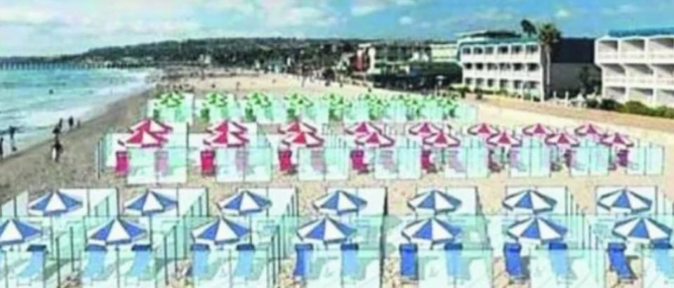 Ηλιοθεραπεία αλά ιταλικά: Παραλίες με... πλέξιγκλας για να μην χαθεί η σεζόν (Βίντεο)