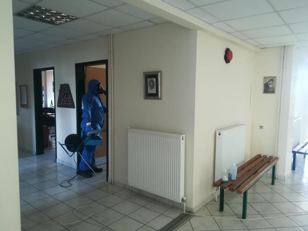 Προληπτικές απολυμάνσεις από το Δήμο Εορδαίας στα σχολεία της δευτεροβάθμιας εκπαίδευσης.