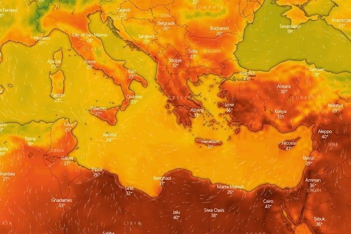 Δορυφορικές εικόνες για τον καύσωνα που έρχεται στην Ελλάδα 3