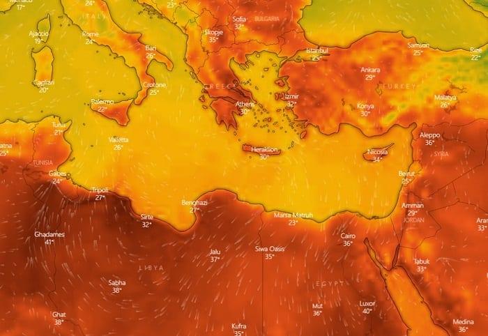 Δορυφορικές εικόνες για τον καύσωνα που έρχεται στην Ελλάδα 9