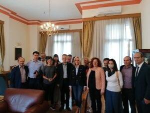 Συνάντηση του δημάρχου Κοζάνης Λάζαρου Μαλούτα με την πρόεδρο του ΚΙΝΑΛ Φώφη Γεννηματά