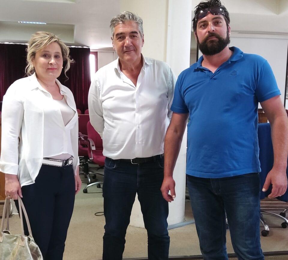 Συνάντηση της επικεφαλής της μείζονος αντιπολίτευσης του Δήμου Εορδαίας κ.Αθηνάς Τερζοπούλου με τον συντονιστή της Επιτροπής Σχεδίου Δίκαιης Μετάβασης κ. Κώστα Μουσουρούλη. 1