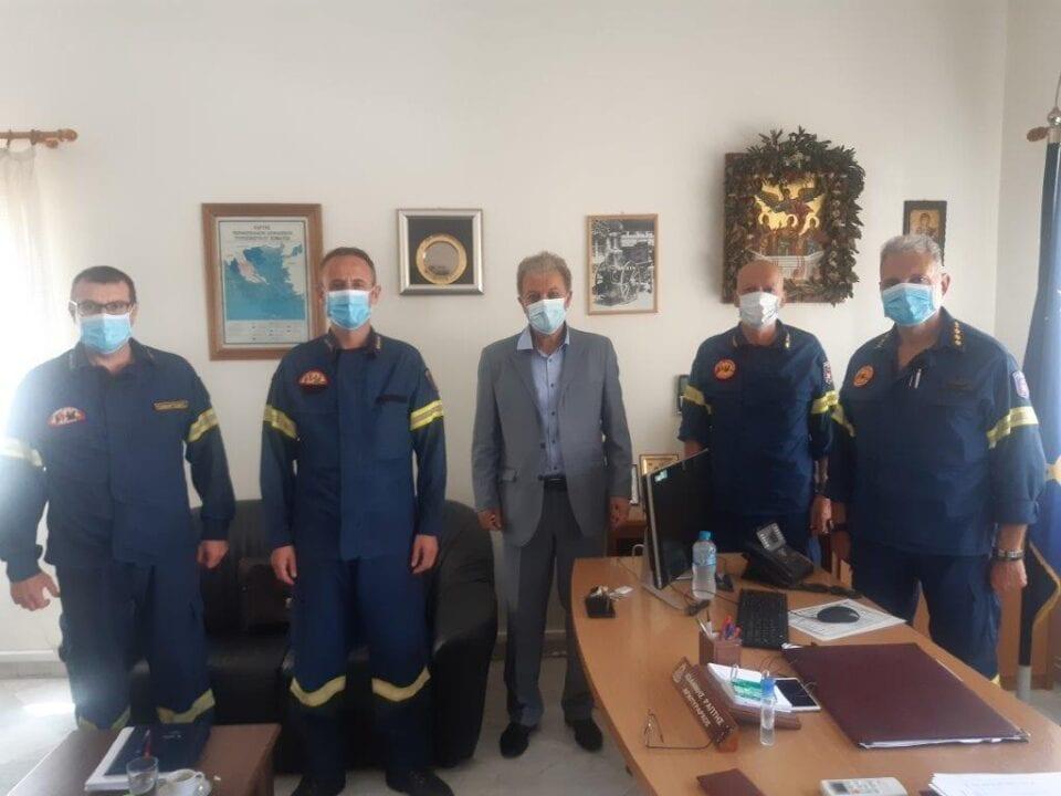 Tην Περιφερειακή Διοίκηση Πυροσβεστικών Υπηρεσιών Δυτ. Μακεδονίας επισκέφτηκε o Γεώργιος Αμανατίδης