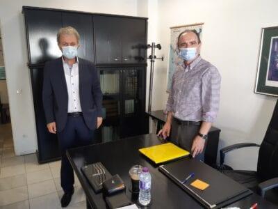 ο Βουλευτής Ν. Κοζάνης Γιώργος Αμανατίδης επισκέφθηκε τους νέους Δ/ντες Α/θμιας & Β/θμιας Εκπαίδευσης 4