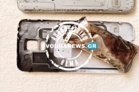 Καστοριά «Έσκασε» το κινητό του - Προκάλεσε ζημιές στο σπίτι (Φώτο)