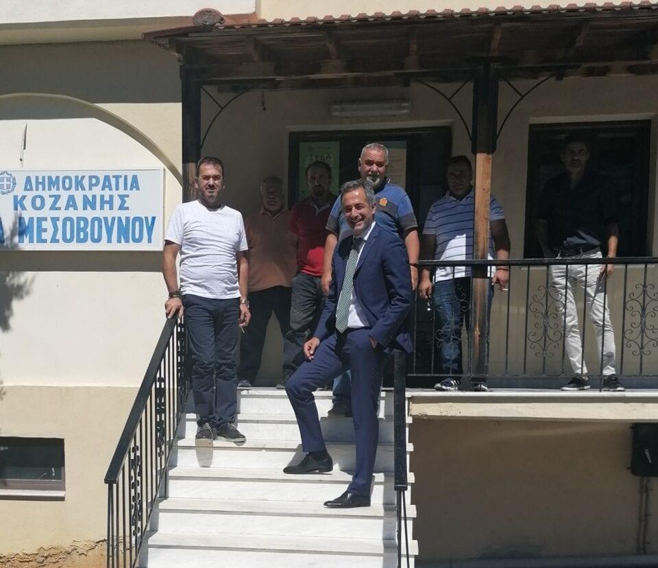 Επίσκεψη του Βουλευτή ΠΕ Κοζάνης Στάθη Κωνσταντινίδη στους Πύργους και στο Μεσόβουνο Εορδαίας.