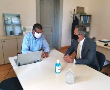 Συνάντηση συνεργασίας του βουλευτή ΠΕ Κοζάνης Στάθη Κωνσταντινίδη με τον πρόεδρο του Πράσινου Ταμείου, κ. Στάθη Σταθόπουλο. Τ