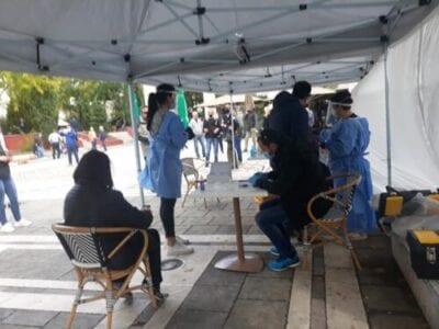 Τεστ ταχείας ανίχνευσης του κορονοιού SARS-COV2 (Rapid test) στην κεντρική πλατεία Πτολεμαΐδας (φωτο) 11