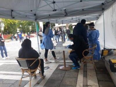 Τεστ ταχείας ανίχνευσης του κορονοιού SARS-COV2 (Rapid test) στην κεντρική πλατεία Πτολεμαΐδας (φωτο) 12