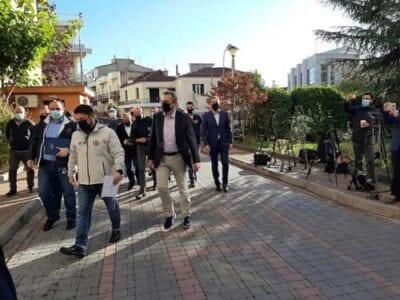 Έφτασε στην Κοζάνη ο Νίκος Χαρδαλιάς – Ξεκινά η σύσκεψη των φορέων 6