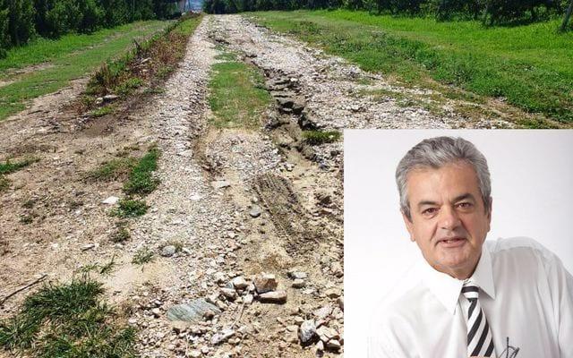 Αποκατάσταση καταστραμμένων δρόμων από την θεομηνία περιοχής αναδασμού Δήμου Σερβίων