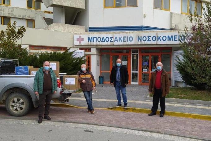 Πτολεμαΐδα: Δωρεά Υγειονομικού υλικού από τον Ροταριανό Όμιλο Κοζάνης στο Μποδοσάκειο