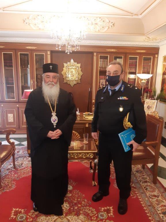 εθιμοτυπική επίσκεψη αρχιπύραρχου σ.  κορέλα στην ιερά μητρόπολη σερβίων και κοζάνης 4