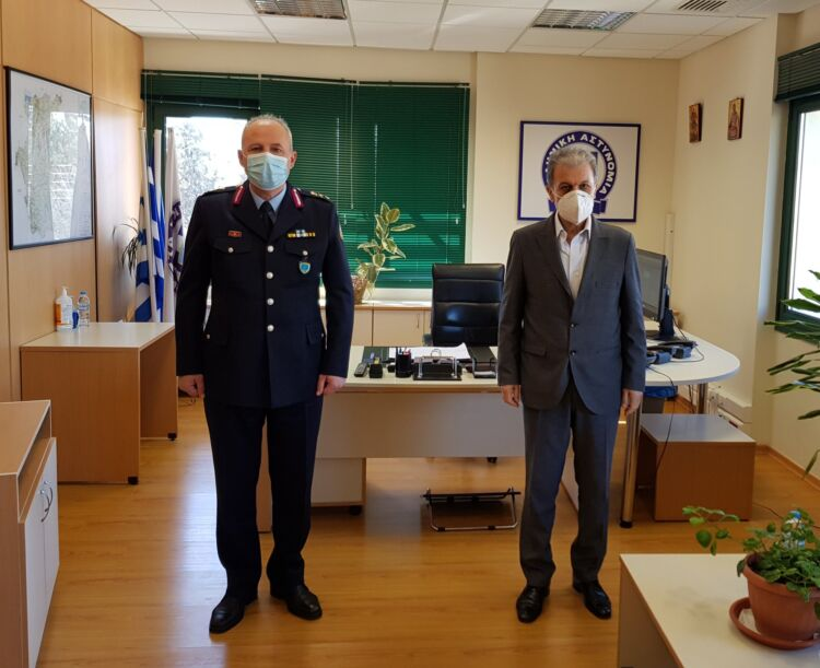 Εθιμοτυπική επίσκεψη του Γιώργου Αμανατίδη στο Γενικό Περιφερειακό Αστυνομικό Διευθυντή Δυτικής Μακεδονίας, Ταξίαρχοκ.Θωμά Νέστορα