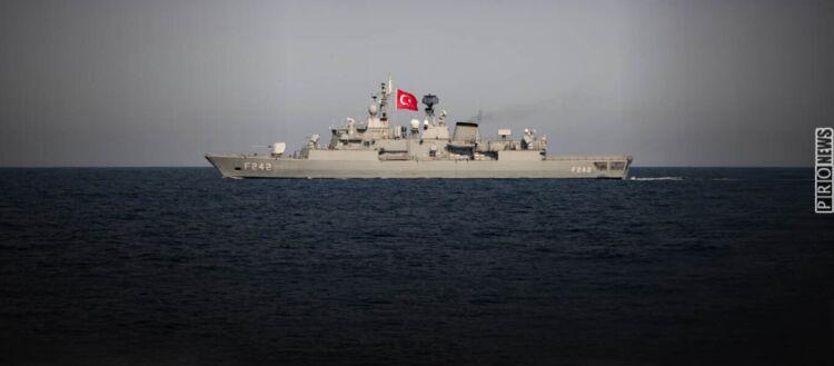 Τουρκική φρεγάτα παρακολουθεί & προειδοποιεί γαλλικό ερευνητικό ΒΔ της Καρπάθου: «Η περιοχή είναι τουρκική - Φύγετε»