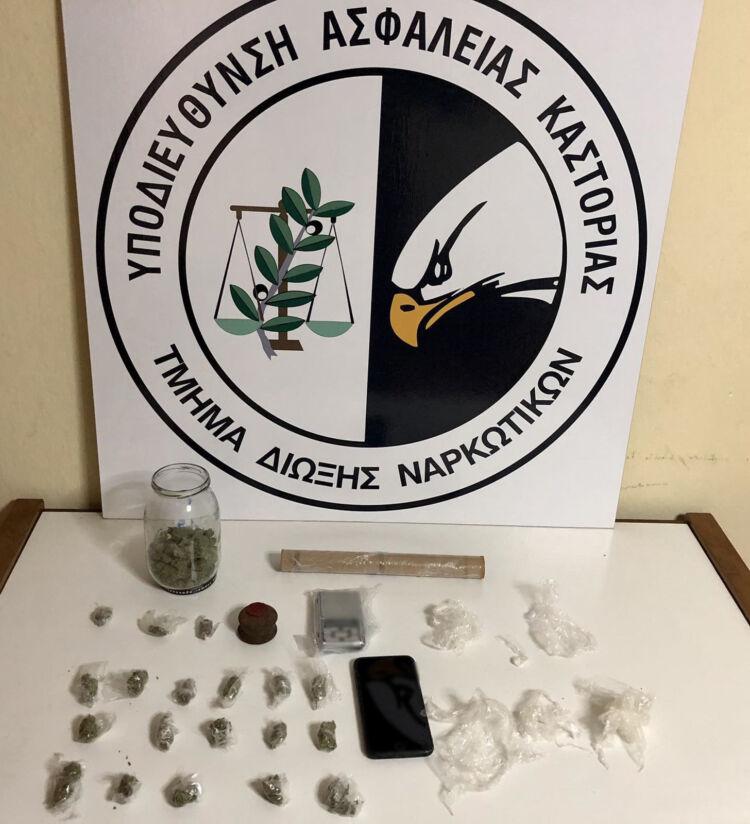 Σύλληψη 30χρονου αλλοδαπού σε περιοχή της Καστοριάς για διακίνηση ναρκωτικών ουσιών