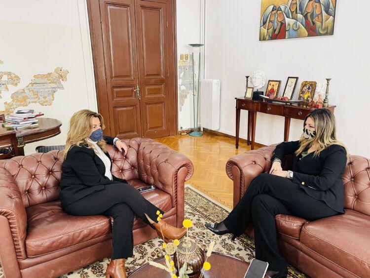 Συνάντηση Μαρίας Αντωνίου με την Υφυπουργό Τουρισμού Σοφία Ζαχαράκη -«Στόχος μας είναι Τουρισμός 365 μέρες το χρόνο»