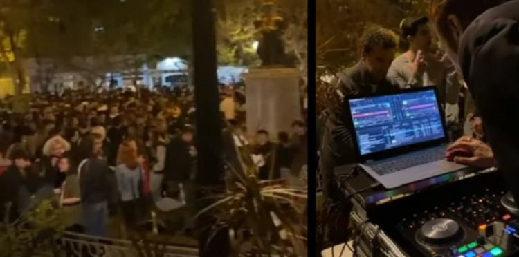 Μεγάλο κορωνοπάρτι στην Κυψέλη: Εκατοντάδες άτομα και DJ στην πλατεία Αγίου Γεωργίου (βίντεο)