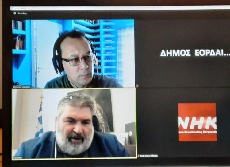 Συνέντευξη του Δημάρχου Εορδαίας Παναγιώτη Πλακεντά στην δημόσια τηλεόραση της Ιαπωνίας