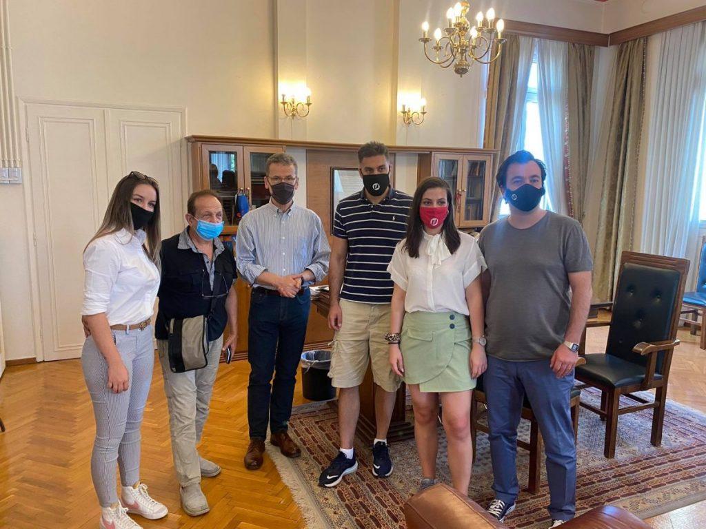 Συνάντηση του δημάρχου Κοζάνης Λάζαρου Μαλούτα με εκπροσώπους του δικτύου «Ελεύθεροι Νέοι»