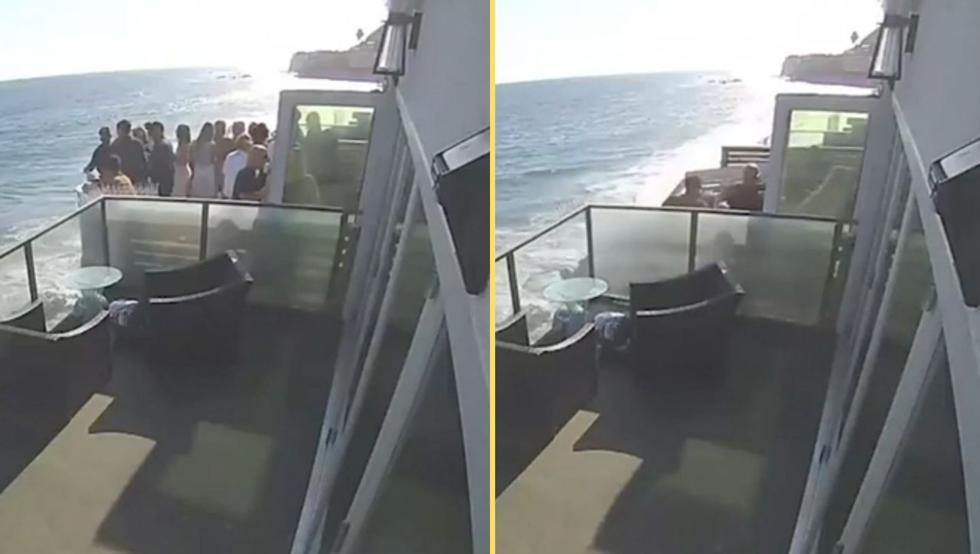 KΟΣΜΟΣ: Μπαλκόνι γεμάτο ανθρώπους καταρρέει και πέφτει στα βράχια (βίντεο)