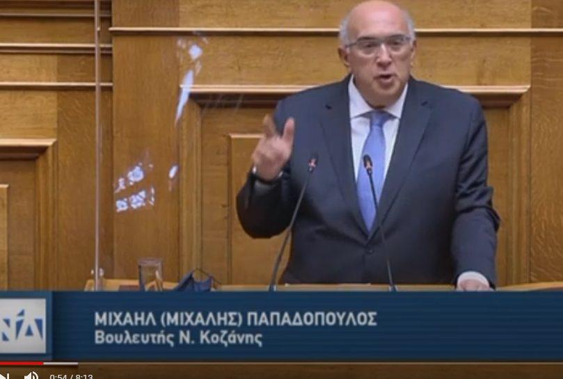 Ο Μιχάλης Παπαδόπουλος Βουλευτής Ν.Δ. Ν. Κοζάνης για το Ν/Σ του Υπουργείου Εσωτερικών με τίτλο «Άρση περιορισμών για την εγγραφή στους ειδικούς εκλογικούς καταλόγους εκλογέων εξωτερικού»