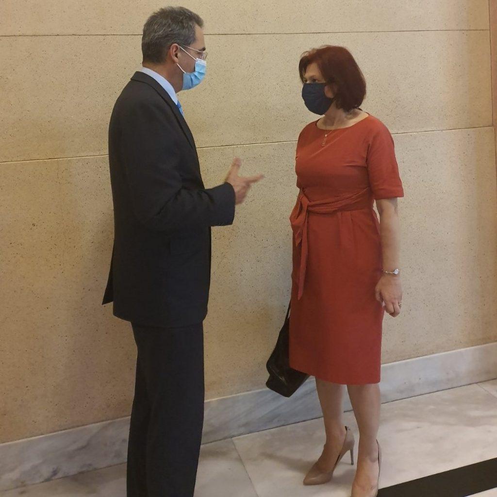 Η Π. Βρυζίδου με τον Υφυπουργό Παιδείας κ. Α. Συρίγο για το Πανεπιστήμιο Δυτικής Μακεδονίας