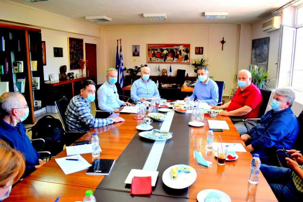 Σύσκεψη στην Π.Ε. Φλώρινας υπό τον Περιφερειάρχη Δυτικής Μακεδονίας κ. Γεώργιο Κασαπίδη για την Πορεία και Εξέλιξη των Έργων
