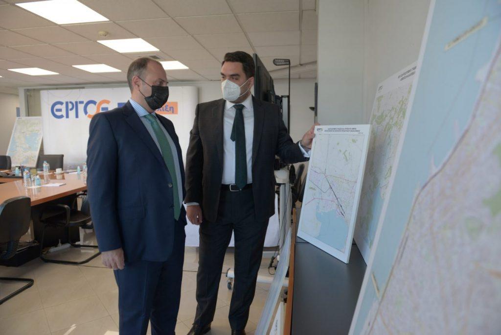 Η πορεία των στρατηγικής σημασίας σιδηροδρομικών έργων ύψους 4 δισ. € στο επίκεντρο της συνάντησης του Γ.Γ. Υποδομών με τον Πρόεδρο και Διευθύνοντα Σύμβουλο της ΕΡΓΟΣΕ
