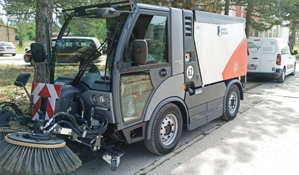 Νέο σάρωθρο στο στόλο οχημάτων του Δήμου Εορδαίας. Δωρεά του Διαδριατικού Αγωγού Φυσικού Αερίου (ΤΑΡ).