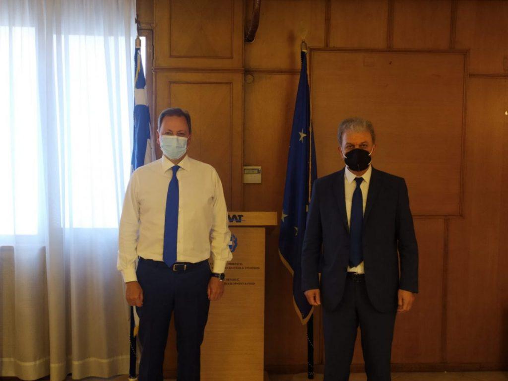 υνάντηση του Βουλευτή Ν. Κοζάνης κ. Γιώργου Αμανατίδη με τον Υπουργό Αγροτικής Ανάπτυξης και Τροφίμων κ. Σπήλιο Λιβανό