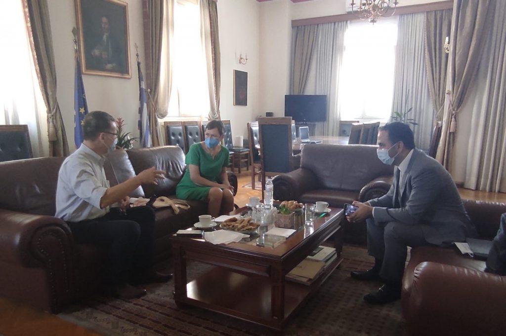 Συνάντηση του Δημάρχου Κοζάνης Λάζαρου Μαλούτα με τη Γενική Πρόξενο της Γερμανίας στη Θεσσαλονίκη Σίβυλλα Μπέντικ