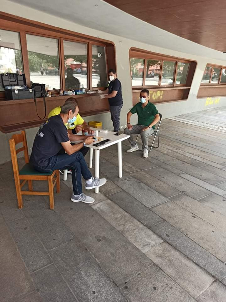 Κοζάνη : Αρνητικά όλα τα rapid tests στην κεντρική πλατεία