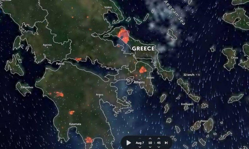 Φωτιά ΤΩΡΑ: Δείτε LIVE την πορεία της πυρκαγιάς – Στα 55 τα ενεργά μέτωπα στη χώρα, «μάχες» παντού