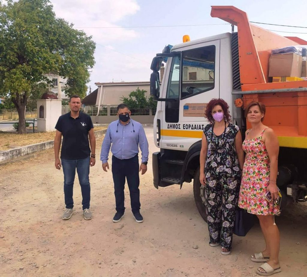 Αποστολή βοήθειας του Δήμου Εορδαίας προς το Δήμο Ιστιαίας-Αιδηψού στη Βόρεια Εύβοια.