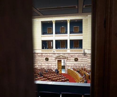 Στελέχη του ΣΥΡΙΖΑ έπαιξαν ξύλο μέσα στα γραφεία του κόμματος στη Βουλή