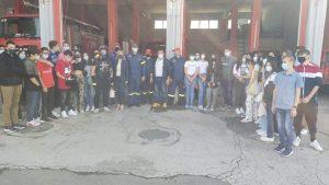 Επίσκεψη στην Πυροσβεστική Υπηρεσία Πτολεμαΐδας από το Μουσικό Σχολείο Πτολεμαΐδας - Στο πλαίσιο της Ευρωπαϊκής Εβδομάδας Κινητικότητας του Δήμου Εορδαίας