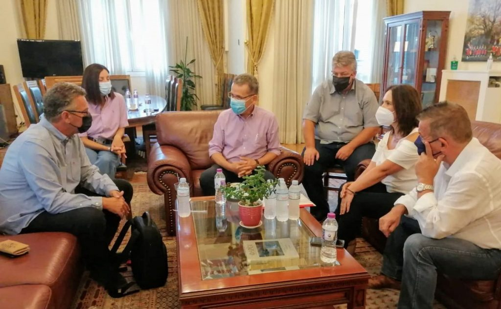 Συνάντηση του δημάρχου Κοζάνης Λάζαρου Μαλούτα με τον ευρωβουλευτή του ΣΥ.ΡΙΖ.Α. Κώστα Αρβανίτη