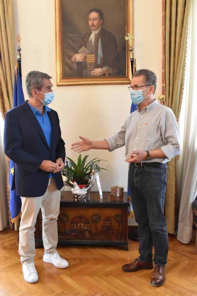 Συνάντηση του δημάρχου Κοζάνης Λάζαρου Μαλούτα με το βουλευτή και υποψήφιο πρόεδρο του ΚΙΝΑΛ Ανδρέα Λοβέρδο
