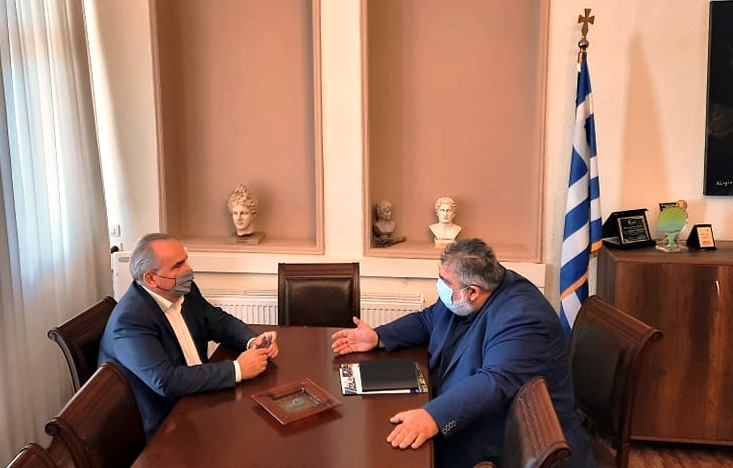 Συνάντηση του Δημάρχου Εορδαίας με τον Αναπληρωτή Υπουργό Ανάπτυξης και Επενδύσεων, αρμόδιο για τις Ιδιωτικές Επενδύσεις και τις ΣΔΙΤ Νίκο Παπαθανάση.
