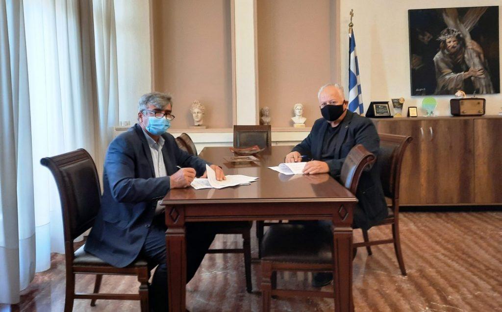 Υπογραφή σύμβασης για το έργο: «Εργασίες ασφαλτόστρωσης αύλειου χώρου στο 3ο ΓΕΛ Πτολεμαΐδας».